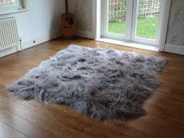 grey faux fur gray fur rug good wayfair com area rugs