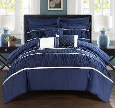 solid blue comforter sets king