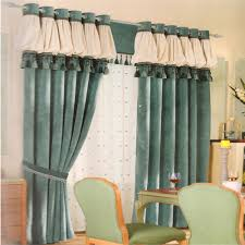 sage green chenille modern style curtains