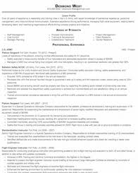 Military To Civilian Resume Samples
