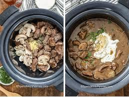 crock pot beef stroganoff spend with