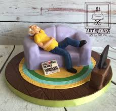 Old Man On A Couch 60th Birthday Cake Cake By Akademia Tortu