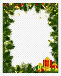 Beautiful Christmas Tree Border Png Image_picture Free Download