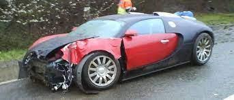 Exclusive & unpublished pics of bugatti veyron crash test in 2004. First Bugatti Veyron Crash