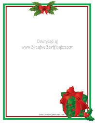 Free Printable Christmas Stationary Free Christmas Border Templates