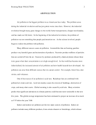 essay on air pollution for class th