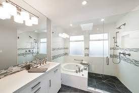 white bathroom lighting. Sweet Transitional Bathroom Gray Stone Tile Floor With Lighting, Flooring, White Shower . Grey Decoratively Lighting A