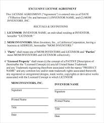 Sample License Agreement Template 11 Free Documents In Pdf Doc