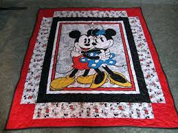 Cute Minnie Mouse Quilt Wwwktb8293etsycom A Childrens Quiltsbaby ... & Mickey And Minnie Mouse Quilt 49 X 55 Mickey Quilt Minnie Disney Quiltblack  Fabricbaby Disney Baby Adamdwight.com