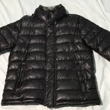 tommy hilfiger men s faux leather puffer jacket