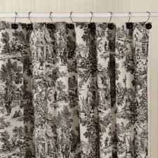cream and black shower curtain. toile shower curtain | sturbridge yankee workshop cream and black c
