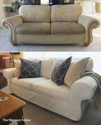couch slipcovers before and after. Wonderful Couch Natural Denim Slipcover For Flexsteel Sofa For Couch Slipcovers Before And After B