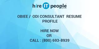 Obiee Odi Consultant Resume Profile Hire It People We Get It Done