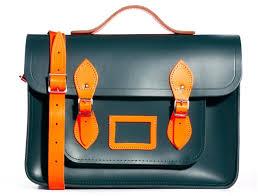 the cambridge satchel company 15 leather satchel dark greenorange