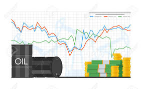 Barrel Of Oil Price Chart Vector Illustration In Flat Style