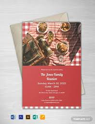 Free Picnic Party Invitation Template Word Psd