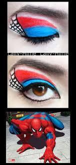 spiderman makeup superhero makeup colorguard the heroes celine eye makeup spider man my sister make up