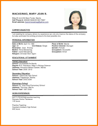13 Applicant Resume Sample Filipino Simple Utah Staffing Companies