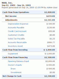 What Is A Cash Flow Report Cash Flow Statement Working Point Knowledge Base