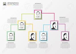 Modern Org Chart Modern Organization Chart Template Vector Illustration