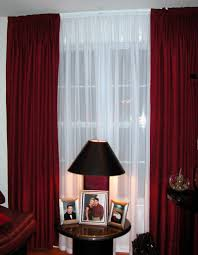 exquisite design black white red. Exquisite Window Decoration With Modern Red Curtains : Foxy Accessories For Treatment Using Rod Design Black White