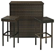 Palm Harbor Outdoor Wicker Bar  Transitional  Outdoor Bar Stools Outdoor Wicker Bar Furniture