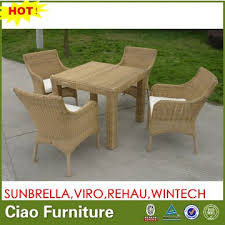 outdoor wicker table chairs round rattan table with four chairs