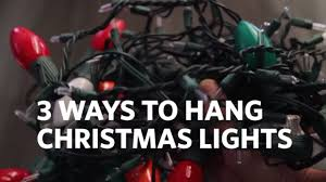 How To Fasten Christmas Lights To House How To Hang Christmas Lights On Your House 3 Different Ways