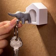 Elephant Key Ring Holder In House