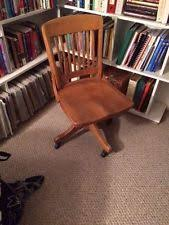 antique wooden office chair. antique solid oak swivel bankers office desk chair wooden