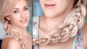 Tuto Tresse 5 Brins Coiffure Cheveux Longs Youtube