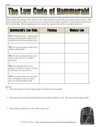 code of hammurabi worksheet switchconf hammurabi s code analysis worksheet by students of history tpt