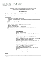 Social Work Intern Job Description Chic Intern Resume Description with Additional social Media Intern 1