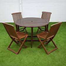 used wooden outdoor dining set
