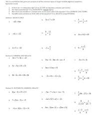 solving linear equations worksheet algebra 2 the best worksheets image collection and share algebraic equat