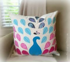 easy pillow designs. peacock pillow - the sewing loft easy designs 0