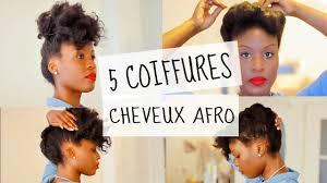 5 Natural Hairstyles Coiffures Faciles Rapides Sur Cheveux