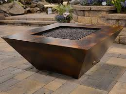 Patio Ideas Gas Fire Pit Kits With Travertine Tiles Ideas And