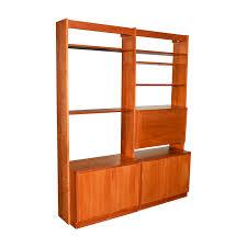charles webb cherry wood bookshelf wall unit with desk charles webb