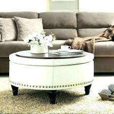 round ottoman coffee table extensive oversized storage tray square black with leather