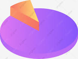 Purple Pie Chart Stereo Illustration Chart Information Chart