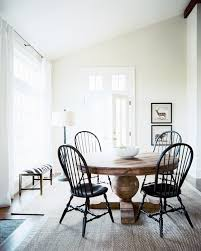 classic pedestal dining table with windsor chairs lonny via coelley