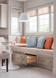 Eating nook Save space and create more seating using kitchen cabinetry as a  bench! Learn how to create the perfect kitchen.