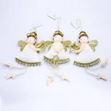 Großhandel Weihnachten Hängende Plüsch Engel Weihnachtsbaum Charms Niedliche Plüsch Puppe Liebe Hängende Engel Anhänger Christbaumschmuck Neujahr Zu