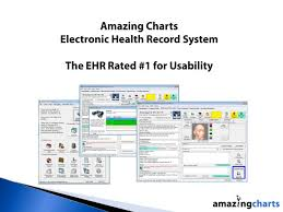 Amazing Charts Ehr Ppt Electronic Medical Records Software Powerpoint