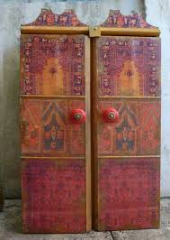Decoupage Kitchen Cabinets Decoupage And Tile Boxes Cabinets African Artwork By Margrit