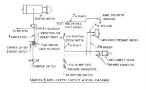 starter and anti creep circuit wiring diagram for 1954 studebaker starter and anti creep circuit wiring for 1954 studebaker champion and commander