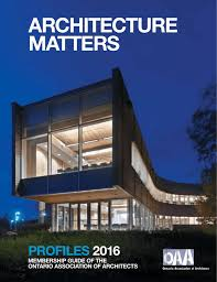 ARCHiTeCTuRAl PRACTiCes - Ontario Association of Architects