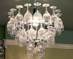 image of wine glass chandelier diy