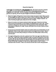king arthur multiple choice test questions multiple choice king arthur essay test 4 questions